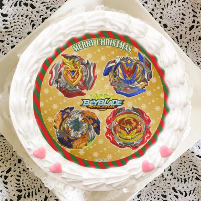 「プリロール」からベイブレードバースト 超ゼツのクリスマスケーキ